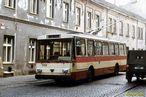 Škoda 14 Tr ev.č. 369 v dnešní Doudlevecké ulici. - 1984