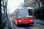Škoda 14 Tr ev.č. 360 odpočívá v obratišti Nádražní. - 3.2.1989