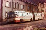 Škoda 15 Tr ev.è. 501 odstavená v Dukelské ulici. - 15.11.1987