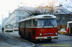 Škoda 9 Tr ev.č. 320 u vjezdu vozovny Cukrovarská - 1985