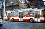 Škoda 14 Tr ev.č. 359 ve vozovně Cukrovarská  - 1985