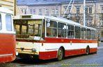 Škoda 14 Tr ev.č. 362 u vozovny Cukrovarská  - 1985