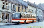 Škoda 14 Tr ev.č. 346 v dnešní Doudlevecké ulici   - 1985