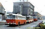 Škoda 9 Tr ev.č. 295 v dnešní Černické ulici  - 1984