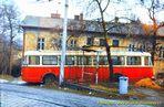 Škoda 9 Tr ev.č. 2?? odstavená u vozovny Cukrovarská - 1984