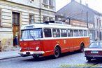 Škoda 9 TrH 25 ev.č. 297 v dnešní Doudlevecké ulici - 1984
