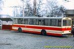 Škoda 14 Tr ev.č. 347 ve vozovně Cukrovarská - 1985