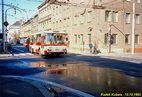 Škoda 14 Tr ev.č. 460 v Tylově ulici. - 10.10.1992