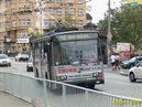 Škoda 14 TrM ev.č. 426 opatřená celovozovou reklamou projíždí po Americké. - 2005