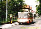 Škoda 14 Tr ev.č. 406 v zastávce Radiová. - 2004/2005