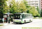 Škoda 14 Tr ev.č. 450 v zastávce Bory, Heyrovského. - 2004/2005