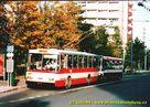 Škoda 14 Tr ev.č. 406 v zastávce Bory, Heyrovského. - 2004/2005
