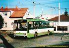 Škoda 14 TrM ev.č. 460 odpočívá na smyčce Černice. - 2004/2005
