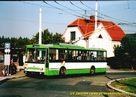 Škoda 14 TrM ev.č. 401 na smyčce Nová Hospoda. - 2004/2005