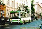 Škoda 14 Tr ev.č. 427 v zastávce Sladkovského, HOSPIC. - 2004/2005