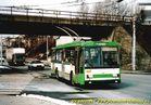 Škoda 14 Tr ev.č. 429 přijíždí do zastávky Tyršův most. - 2004/2005
