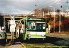 Škoda 14 TrM ev.č. 405 v zastávce Tyršův most. - 2004/2005
