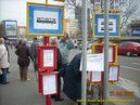 Ověšené zastávkové označníky v zastávce Muzeum . - 21.4.2008