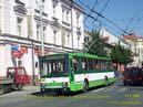 Porouchaná Škoda 14 TrM ev.č. 456 zatahuje do vozovny. - 17.7.2009