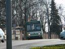 Škoda 14 TrM ev.č. 407 opouští zastávku Zátiší , U Hřbitova. - 7.4.2010