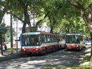 Točka Ružová dolina s vozy 14 Tr ev.č. 6276 a 6302 v popředí. - 8.7.2010