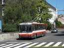 Škoda 14 Tr ev.č. 6252 opustila zastávku Šancová. - 9.7.2010