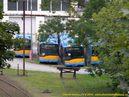 Pohled na nádvoří doudlevecké Škody Electric zaplavené vozy pro Sofii. - 14.9.2010