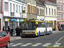 Škoda 15 Tr ev.č. 205 zastavila v teplické zastávce Benešovo náměstí (Teplice). - 19.4.2011