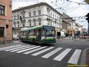 Škoda 21 Tr ACI ev.č. 482 na odkloněné lince 12 zatáčí do Tylovy ulice. - 2.7.2011