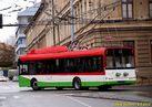 Solaris Trollino 12 pro Lublin zatáčí z Cukrovarské do Doudlevecké ulice. - 5.1.2012