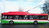 Boční pohled na trolejbus Solaris Trollino 12 pro Lublin. - 16.2.2012