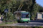 Škoda 15 TrM ev.č. 153 (ex PMDP 467) zachycena v ulici Vasylya Symonenka. - 23.9.2012
