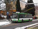 Škoda 14 TrM ev.č. 47 (ex PMDP 417) zachycena v zastávce Nádraží. - 28.2.2013