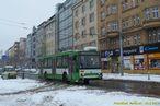 Škoda 14 TrM ev.č. 456 projíždí po Americké. - 24.2.2013