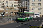 Ulice U Prazdroje je uzavřena, a tak musí jet 491 odklonem Šumavskou ulicí. - 5.10.2013