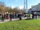 Začátek pochodu byl na náměstí Emila Škody. - 28.10.2013