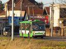 Škoda 14 TrM ev.č. 452 nasvícená nízkým zimním sluncem projíždí po Nepomucké. - 27.12.2013