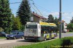 Škoda 24 Tr ev.č. 498 projíždí po Nepomucké. - 13.6.2013