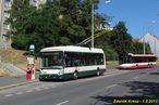 Škoda 24 Tr ev.č. 516 v zastávce Letná vyčkává na odkloněný spoj linky 30. - 1.8.2013