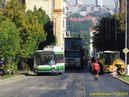 Provoz trolejbusů na odklonové trase byl komplikován probíhajícím asfaltováním. - 17.8.2013