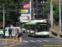Škoda 26 Tr ev.č. 531 je první z trolejbusů, kterým byl v 15:40 dovolen průjezd po Anglickém nábřeží před protestním pochodem. - 24.8.2013