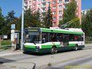 Škoda 21 Tr ev.č. 489 přijela do zastávky Šimerova. - 7.9.2013