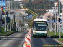 Vybočení sběračů při jízdě levým pruhem zachycuje snímek 497. - 29.9.2013
