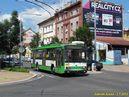 Škoda 14 TrM ev.č. 453 vyjíždějící z vozovny na linku 15 zatáčí z Koterovské do Barrandovy. - 1.7.2013