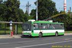 Škoda 14 TrM ev.č. 457 na lince 13 zachycena v zastávce Stavební stroje. - 18.7.2013