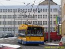 Škoda 27 Tr pro Zlín odjíždí od autobusového nádraží. - 30.1.2014