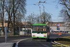 Vůz 455 při posledním zátahu z pravidelné služby na lince přijíždí do depa Karlov. - 3.3.2015