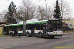 Škoda 27 Tr ev.č. 528 opouští točnu Doubravka. - 4.2.2015