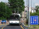 Škoda 26 Tr ev.è. 546 vjíždí na protismìrný most. - 30.6.2015