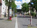 Nepøístupná zastávka Sokolská pøed zahájením výkopových prací. - 10.5.2015